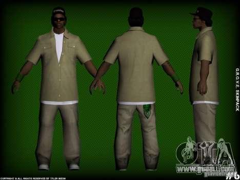 G.R.O.V.E. Skinpack for GTA San Andreas forth screenshot