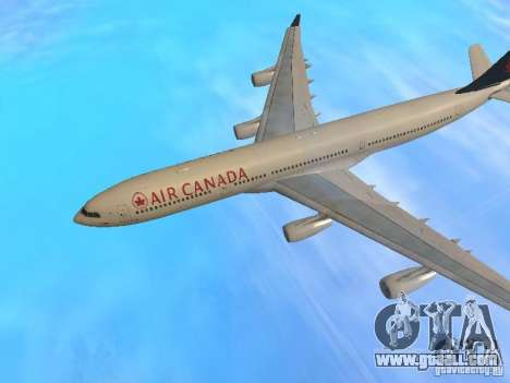Airbus A340-300 Air Canada for GTA San Andreas side view