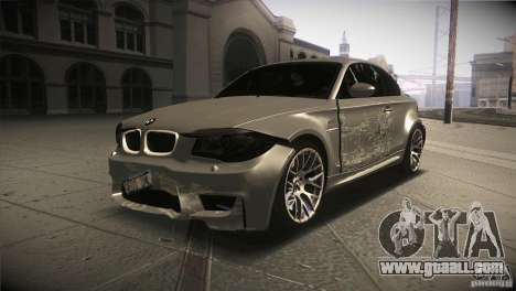 BMW 1M E82 Coupe 2011 V1.0 for GTA San Andreas upper view