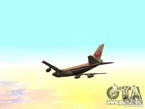 Boeing 747-100 Japan Airlines for GTA San Andreas side view