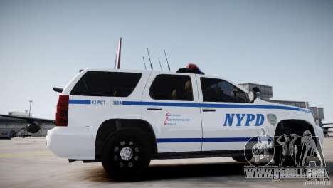 Chevrolet Tahoe 2012 NYPD for GTA 4 back left view