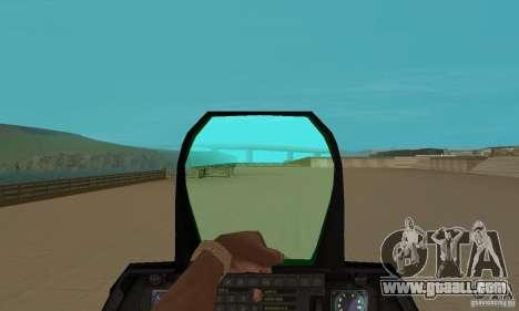 F-22 Starscream for GTA San Andreas back view