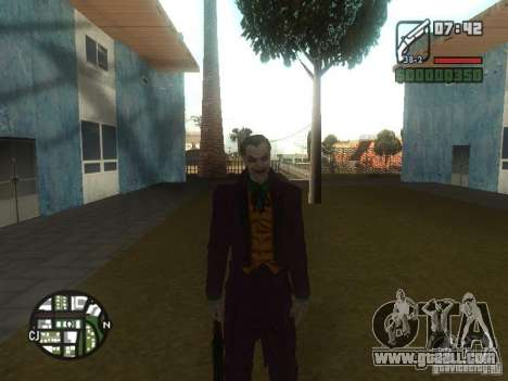 HQ Joker Skin for GTA San Andreas forth screenshot