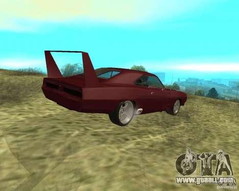 Dodge Charger Daytona for GTA San Andreas back left view