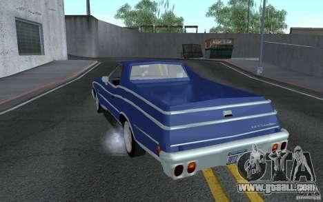 Chevrolet El Camino 1976 for GTA San Andreas back left view