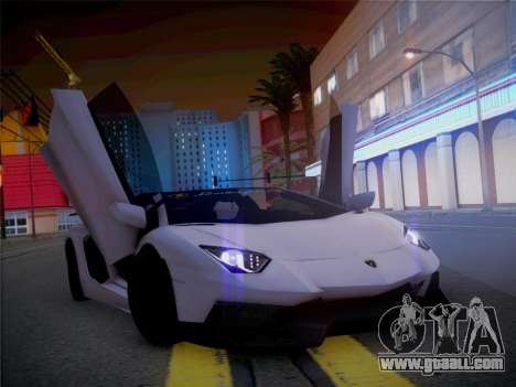 Lamborghini Aventador LP700-4 Roadstar for GTA San Andreas back view