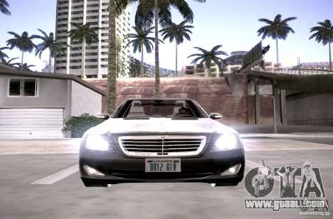 Mercedes-Benz S600 v12 for GTA San Andreas inner view