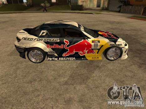 Mazda RX-8 RedBull for GTA San Andreas left view
