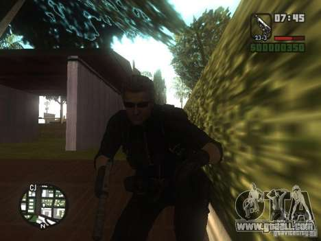 Wesker from RE5 for GTA San Andreas third screenshot