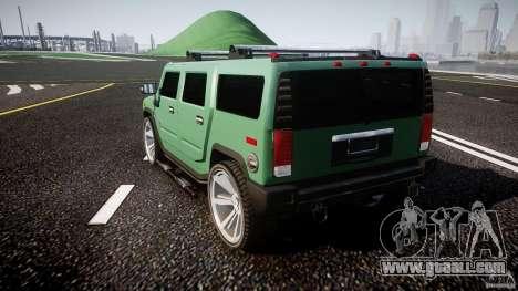 Hummer H2 for GTA 4 back left view