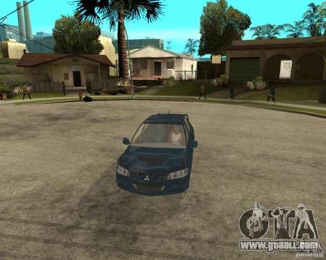 Mitsubishi Lancer Evolution VIII for GTA San Andreas inner view