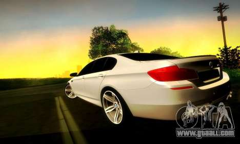 BMW M5 F10 for GTA San Andreas side view