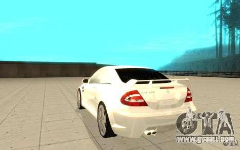 Mercedes-Benz CLK 500 Kompressor for GTA San Andreas back left view