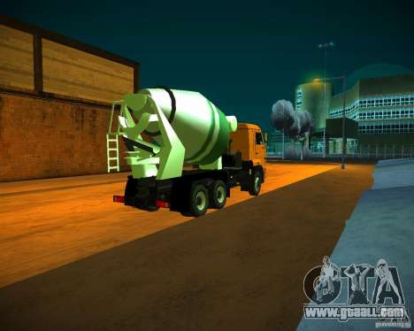 KAMAZ 6460 concrete mixer for GTA San Andreas