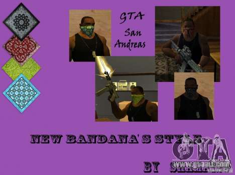New Bandanas Style for GTA San Andreas