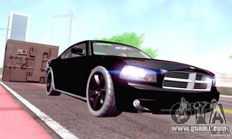 Dodge Charger Fast Five for GTA San Andreas inner view