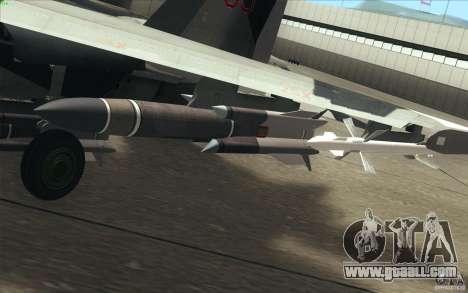 Su-35 BM v2.0 for GTA San Andreas interior