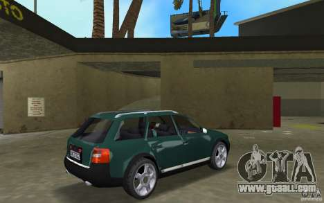 Audi Allroad Quattro for GTA Vice City right view
