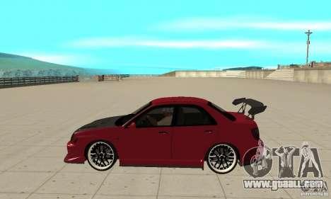 Subaru Impreza for GTA San Andreas left view