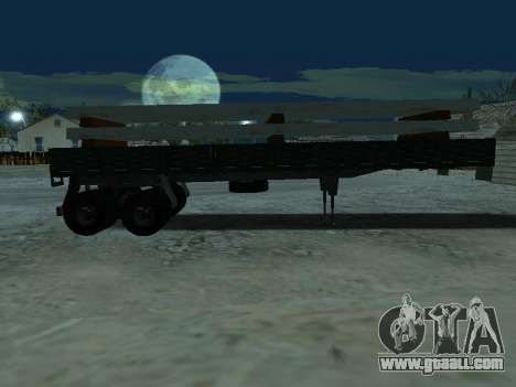 Trailer for Kamaz 5410 for GTA San Andreas side view