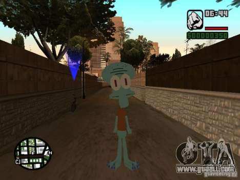 Squidward for GTA San Andreas second screenshot