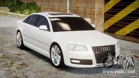 Audi S8 D3 2009 for GTA 4 inner view