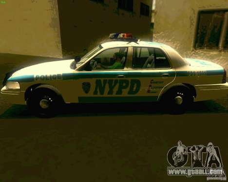 Ford Crown Victoria 2003 NYPD police for GTA San Andreas back left view