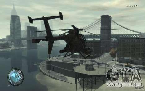 AH-6 Little Bird AcuDigital Camo for GTA 4 left view