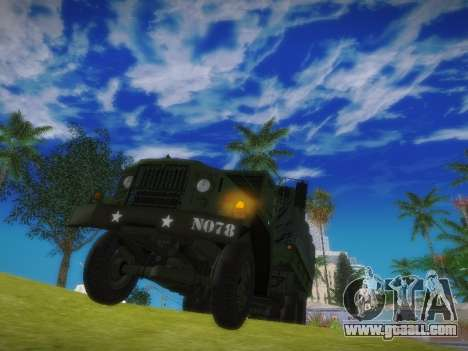 AM General M35A2 for GTA San Andreas right view