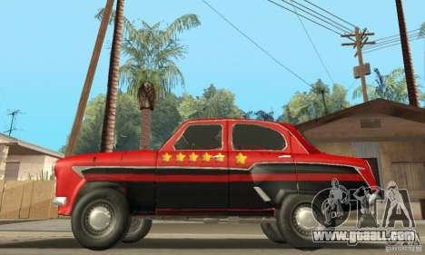 Moskvich 407 1958 for GTA San Andreas bottom view
