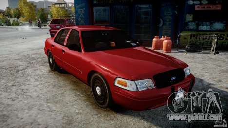 Ford Crown Victoria Detective v4.7 red lights for GTA 4 right view