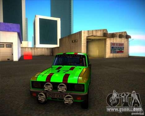AZLK 2140SL rally for GTA San Andreas left view
