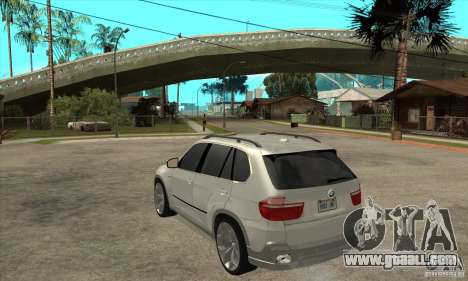 BMW X5 E70 Tuned for GTA San Andreas back left view