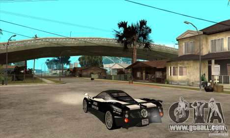 Pagani Zonda F Speed Enforcer BETA for GTA San Andreas right view