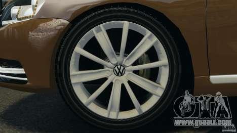 Volkswagen Passat Variant B7 for GTA 4 inner view