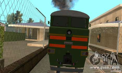 Locomotive 2te116 for GTA San Andreas back left view