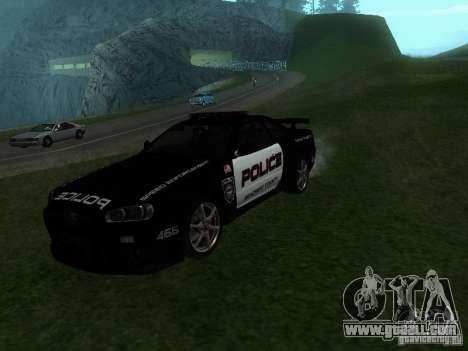 Nissan Skyline R34 Police for GTA San Andreas