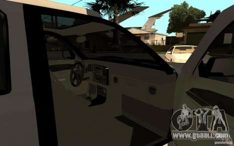 Cadillac Escalade pick up for GTA San Andreas back left view