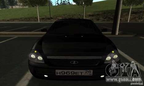 Lada Priora Hatchback for GTA San Andreas inner view