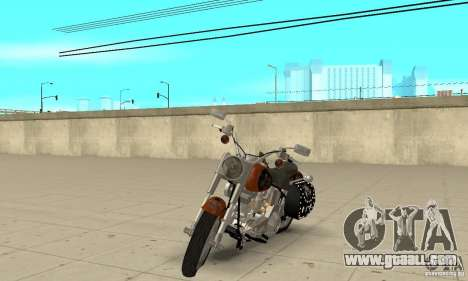 Harley Davidson FLSTF (Fat Boy) v2.0 Skin 2 for GTA San Andreas