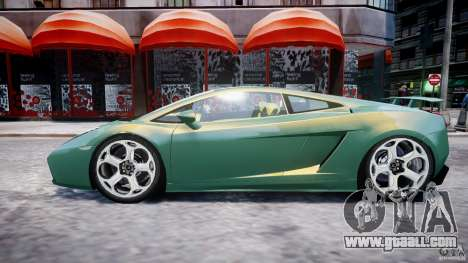 Lamborghini Gallardo for GTA 4 bottom view