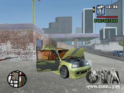 1111 OKA (tuning) for GTA San Andreas interior