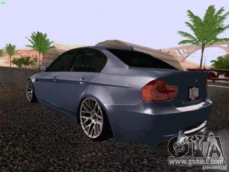 BMW M3 E90 Sedan 2009 for GTA San Andreas back left view