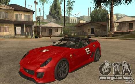Ferrari 599xx 2010 for GTA San Andreas