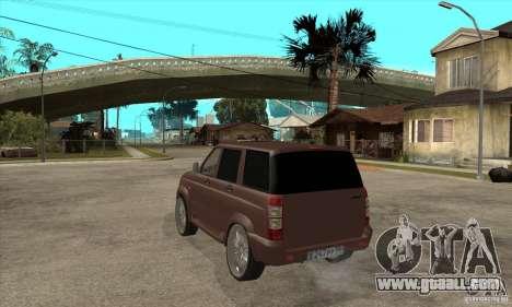 UAZ Patriot for GTA San Andreas right view
