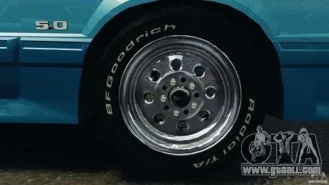 Ford Mustang GT 1993 v1.1 for GTA 4 upper view