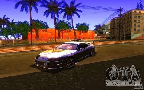 Toyota Supra Rz The bloody pearl 1998 for GTA San Andreas back left view