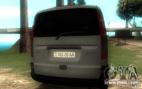 Mercedes-Benz Vito 2007 for GTA San Andreas back view