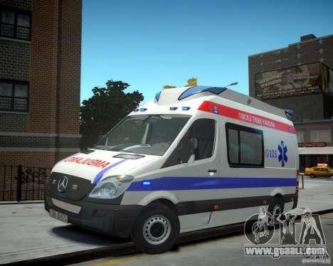 Mercedes-Benz Sprinter Azerbaijan Ambulance v0.2 for GTA 4