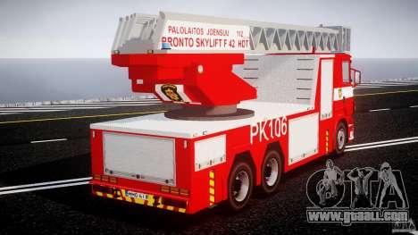 Scania R580 Fire ladder PK106 for GTA 4 inner view